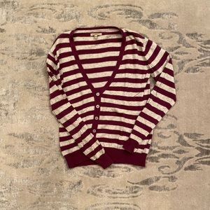 Purple and Grey Striped Burberry Cardigan